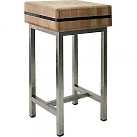Kloc Pieniek masarski drewniany na podstawie stalowej 40x50x20 cm (h)