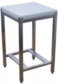 Pieniek Kloc masarki na podstawie stalowej z wkładem polietylenowym 40x50x5,2/75 cm (h)