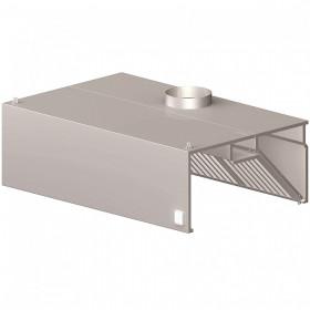 Okap gastronomiczny przyścienny skrzyniowy z łap. B i ośw. 1000x600x450 mm