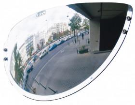 Lustro do wyjazdu z parkingu (szeroki kąt widzenia) 600x100x300mm VIALUX