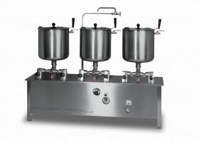 Zestaw trzech kotłów przechylnych elektrycznych 30l ZE-6 Lozamet