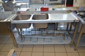 Stół nierdzewny 2-komorowy 160x60x85 cm Ikmet