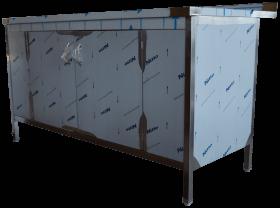 Stół nierdzewny zabudowany 150x80x85 cm Ikmet