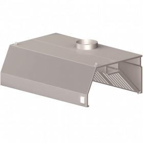 Okap gastronomiczny przyścienny trapezowy z łap. B i ośw. 1500x1100x450 mm