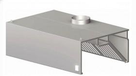 Okap gastronomiczny przyścienny skrzyniowy z łap. B i ośw. 2400x900x450 mm