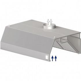 Okap gastronomiczny przyścienny trapezowy z łap. B i ośw. 2400x1100x450 mm