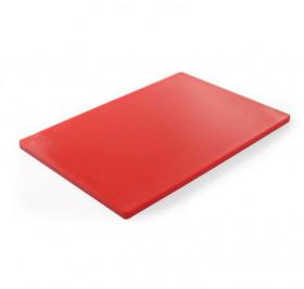 Deska do krojenia HACCP 600x400 czerwona do surowego mięsa