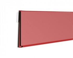 Listwa cenowa sklepowa samoprzylepna 100 cm czerwona DBR 39