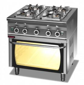Gastronomiczna kuchnia gazowa 4 palnikowa z piekarnikiem gazowym 000.KG-4s/PG-2 Kromet
