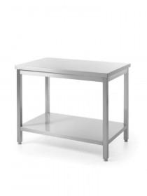 Stół nierdzewny roboczy centralny z półką - skręcany 1200 x 600