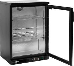 Witryna Yato Gastro YG-05350 chłodnicza do butelek 1-drzwiowa czarna Yato Gastro YG-05350