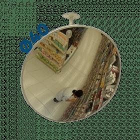Lustro sklepowe nietłukące akrylowe Ø40 cm