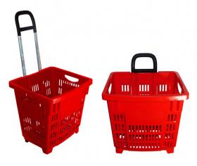 Koszyk zakupowy 55L na kółkach - HURT