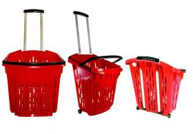 Koszyk sklepowy zakupowy 38L na kółkach - HURT