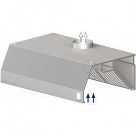 Okap gastronomiczny przyścienny trapezowy 1800x900x450 mm