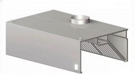 Okap gastronomiczny przyścienny skrzyniowy 2000x1000x450 mm