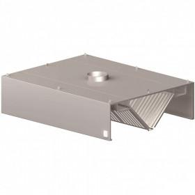 Okap gastronomiczny centralny skrzyniowy 2400x1200x450 mm