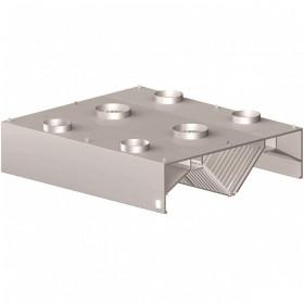 Okap gastronomiczny centralny skrzyniowy indukcyjny 2800x1800x450 mm