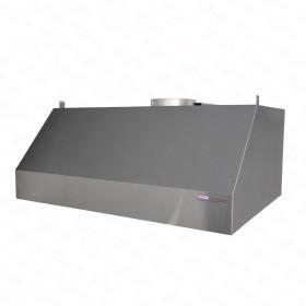 Okap gastronomiczny przyścienny trapezowy 1100x800x450 mm + filtry labiryntowe