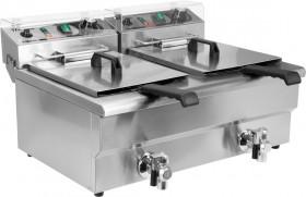 Frytownica gastronomiczna elektryczna z zaworem 2x16L