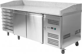 Stół Yato Gastro YG-05310 chłodniczy do pizzy 580 L 2-drzwiowy 7 szuflad granitowy blat