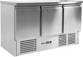 Stół chłodniczy 368 L 3-drzwiowy z blatem roboczym Yato Gastro