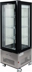 Witryna chłodnicza 400L 65x65x190 czarna Yato Gastro