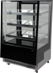 Witryna chłodnicza 400L 90x80x144 czarna Yato Gastro