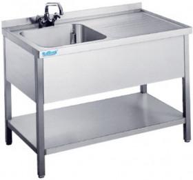 Zlew 1-komorowy , 1200x600x850(900)mm - Rilling-Krosno Metal