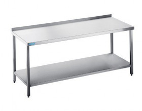 Stół gastronomiczny do pracy z półką 1000x600x850(900) mm Hit