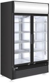 Szafa chłodnicza przeszklona z podświetlanym panelem 2-drzwiowa 750 l