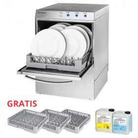 Gastronomiczna Zmywarka uniwersalna Stalgast 801517, z dozownikiem płynu myjącego, pompą zrzutową i pompą wspomagającą płukanie