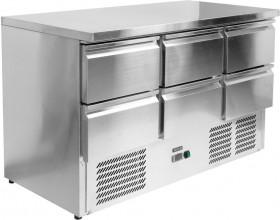 Gastronomiczny stół chłodniczy 368 L z 6 szufladami