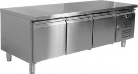 Stół chłodniczy podblatowy gastronomiczny 317L 3 drzwiowy
