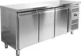 Gastronomiczny stół chłodniczy 339 L, 3 drzwiowy