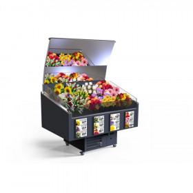 Lada chłodnicza na kwiaty 145x95x191 cm RAPA L-BK