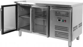 Stół chłodniczy 282L, 2-drzwiowy, przeszklony