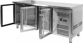 Stół chłodniczy gastronomiczny 417L, 3-drzwiowy, przeszklony