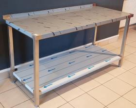 Stół nierdzewny z półką 160-70-85 | OD RĘKI