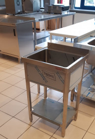Zlew gastronomiczny stojący z półką SANEPID 50-45-85