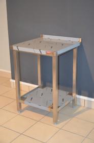 Nierdzewny stół roboczy z półką 600x600x850