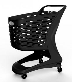 Wózek sklepowy plastikowy Rabtrolley Mini Eko 80 L
