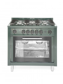 Kuchnia Gastronomiczna gazowa 5 palnikowa Kitchen Line z konwekcyjnym piekarnikiem elektrycznym i grillem Hendi