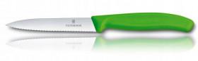 Gastronomiczny nóż, ostrze ząbkowane, 10 cm, zielony, Swiss Classic