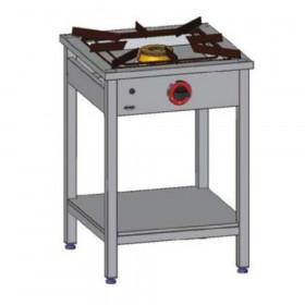 EGAZ Trzon gazowy 1-palnikowy gastronomiczny z półką 600x600x850 mm