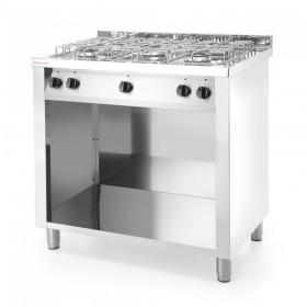Gastronomiczna kuchnia gazowa 5-palnikowa na podstawie otwartej