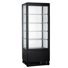 Witryna chłodnicza ekspozycyjna, czarna 98L