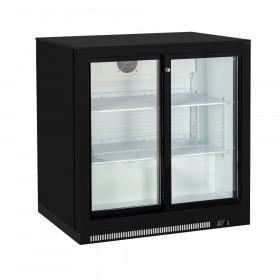 Witryna chłodnicza barowa podblatowa 2-drzwiowa, poj. 220L