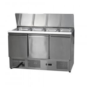 Stół chłodniczy sałatkowy 3-drzwiowy nierdzewny