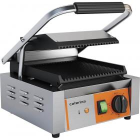 Gastronomiczny kontakt grill pojedynczy, ryflowany, 1.8 kW - Stalgast Caterina